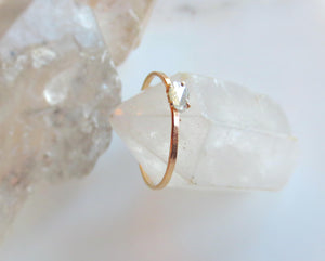 Diamond Slice Ring Rose Gold