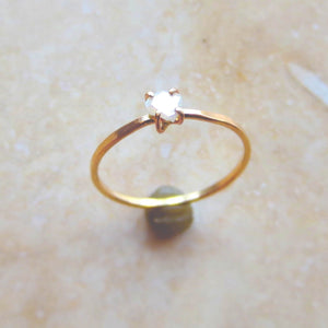 Diamond Slice Ring Yellow Gold