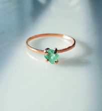 Raw Emerald Ring | Natural Emerald Stacking Ring | Alternative Engagement Ring