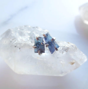 Raw Tanzanite Earrings