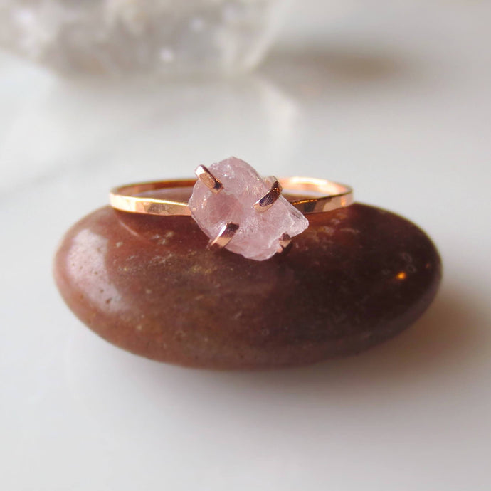 Rose Quartz Ring Rose Gold