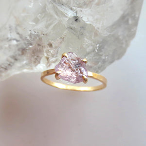 purple and gold sapphire ring