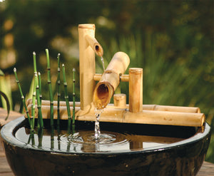 bamboo water feature diy