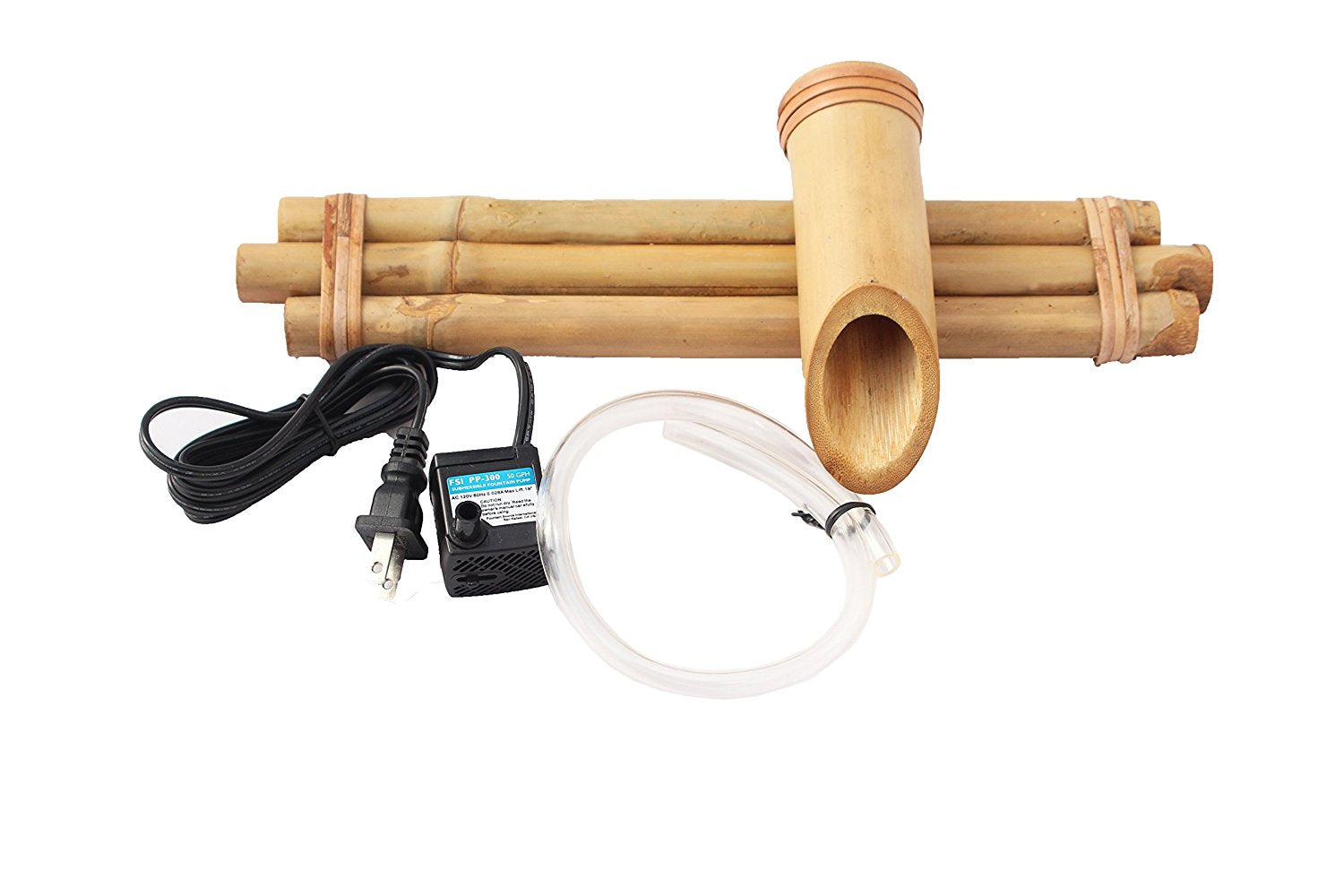 "Bamboo Accents 12"" Three Arm Spout and Pump Kit"