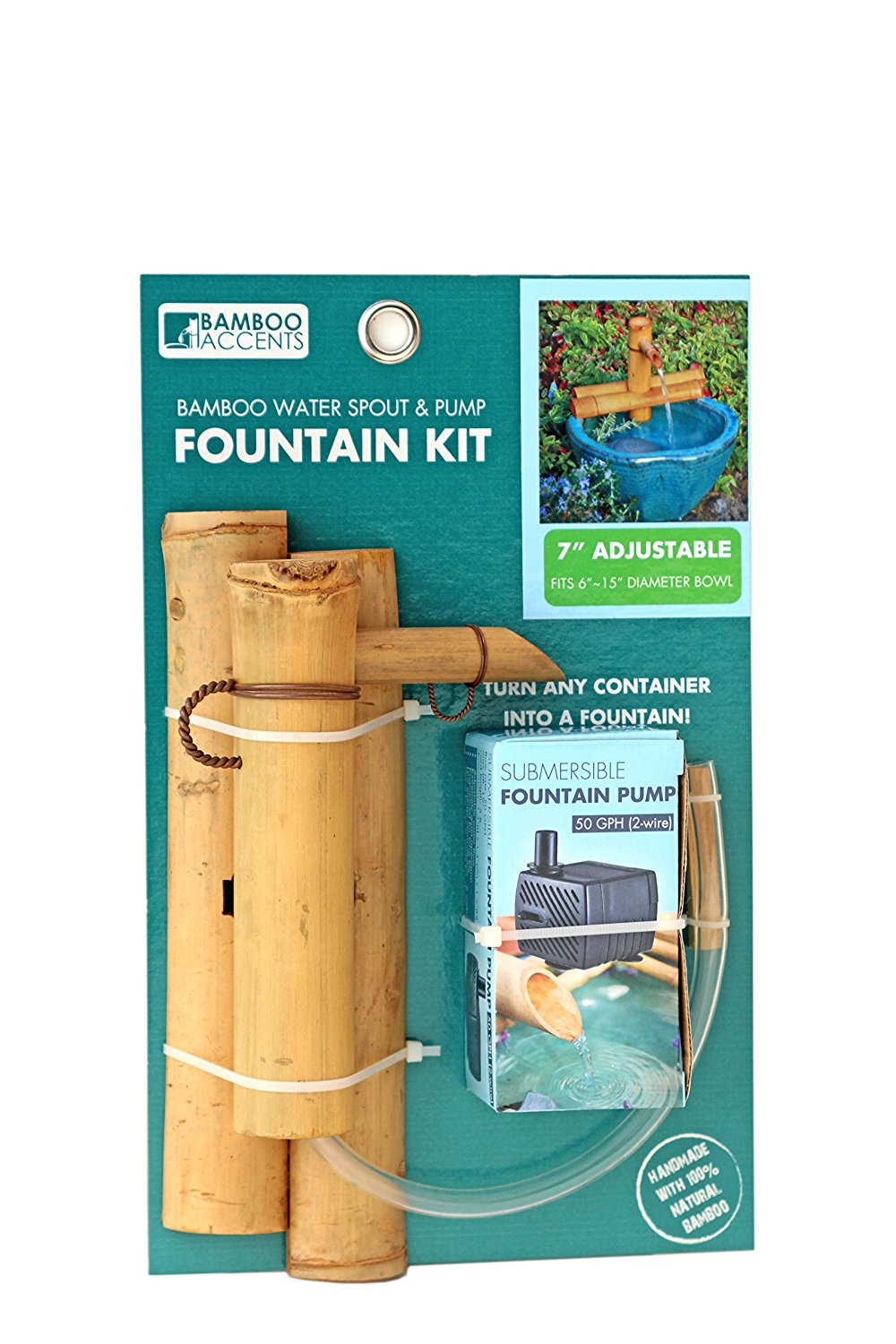 "Bamboo Accents 7"" Adjustable Spout and Pump Kit"