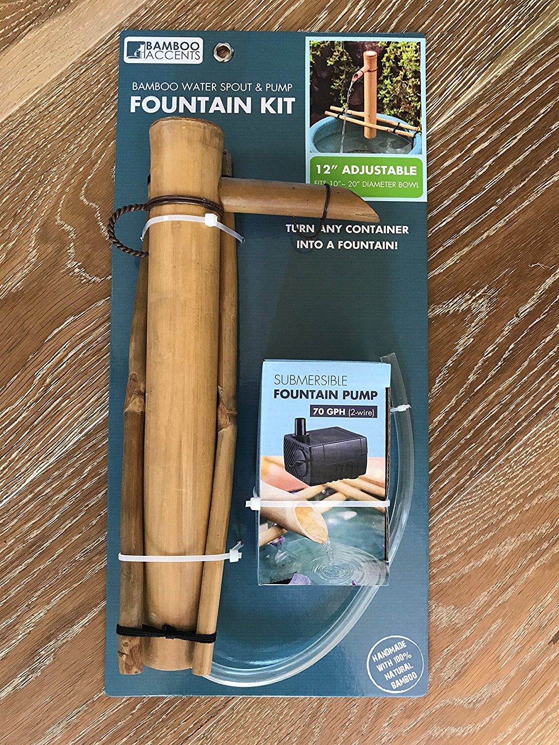 "Bamboo Accents 12"" Adjustable Spout with Branch Arms and Pump Kit"