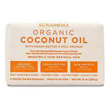 Sunaroma Organic Coconut Oil Soap with Kokum Butter