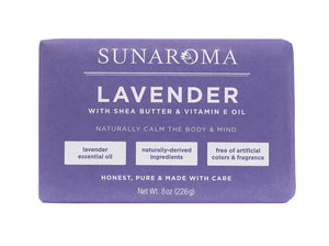 Sunaroma Lavender, Shea, and Vitamin E Soap