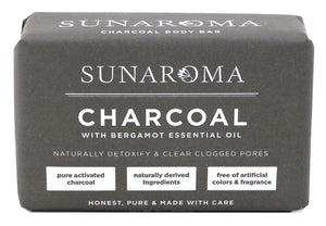 Sunaroma Charcoal and Bergamot Soap