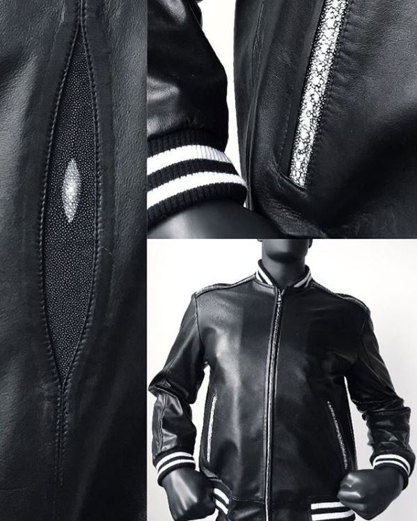 Custom Leather Baseball Jacket From Jakewood