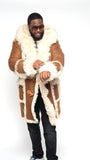 Trench Coat with Mongolian Fur Design Style #4930 - Jakewood Shearlin Leather Mouton Fur Bomber Aviator Parka Coat Jacket Sheepskin All size Brooklyn New York manufacturer