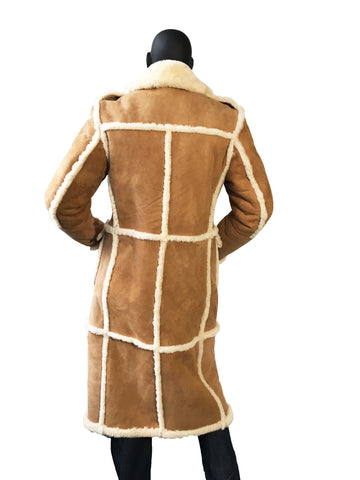 Full Length Sheepskin Coat Style #6000 - Jakewood Shearlin Leather Mouton Fur Bomber Aviator Parka Coat Jacket Sheepskin All size Brooklyn New York manufacturer