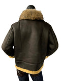 Shearling Jacket With Fur Collar Style #6310 - Jakewood Shearlin Leather Mouton Fur Bomber Aviator Parka Coat Jacket Sheepskin All size Brooklyn New York manufacturer