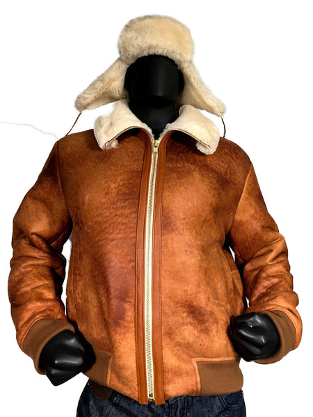Sheepskin Shearling Bomber Jacket Style #5500