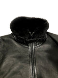 Sheepskin Shearling Jacket With Quilted Leather Style #2060