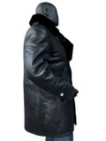 Sheepskin Shearling Nappa Finish Trench Coat Style #4400