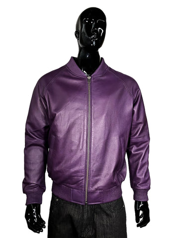 Genuine Lambskin Leather Baseball Varsity Jacket Style #1051