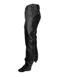 Men's Black Stylish & Genuine Lambskin Leather Pants