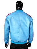 Genuine Leather Baseball Jacket Multi-Color Style #1095