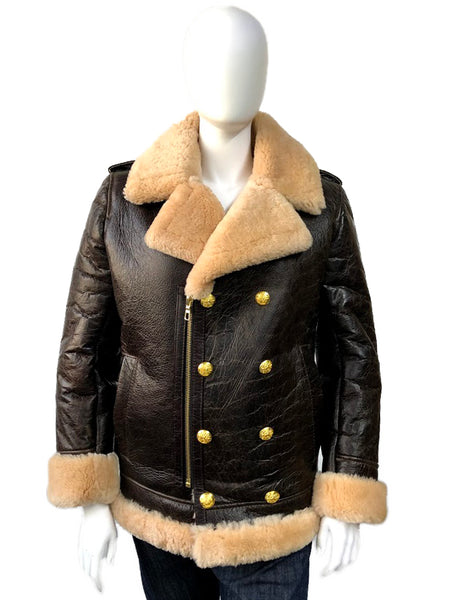 Women Sheepskin Double Breasted Jacket Style #4450