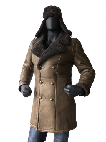 Sheepskin Napa Finish Trench Coat Style #4400