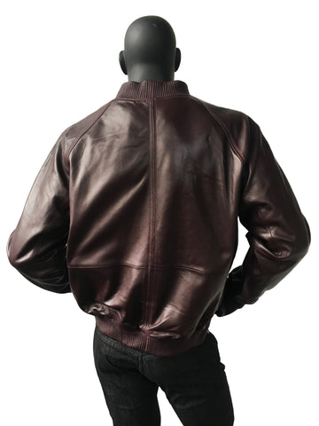 Genuine Lambskin Leather Baseball Varsity Jacket Style #1051 - Jakewood Shearlin Leather Mouton Fur Bomber Aviator Parka Coat Jacket Sheepskin All size Brooklyn New York manufacturer