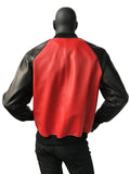 Genuine Leather Baseball Jacket Black White Red Style#1095 - Jakewood Shearlin Leather Mouton Fur Bomber Aviator Parka Coat Jacket Sheepskin All size Brooklyn New York manufacturer