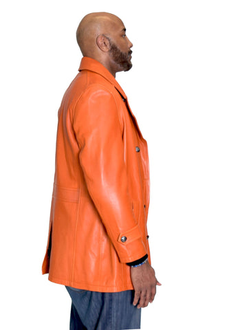 Genuine Lambskin Leather Trench Coat  Style #2092