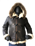 Shearling Sheepskin Aviator Jacket- B3 With Toggles Style #810