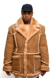 Sheepskin  Marlboro Style Jacket Style #4900 - Jakewood Shearlin Leather Mouton Fur Bomber Aviator Parka Coat Jacket Sheepskin All size Brooklyn New York manufacturer