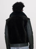 Sheepskin Jacket with Fur Collar Style #7020