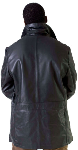 Double breasted peacoat jacket. Metal zipper and buttons Style #2045
