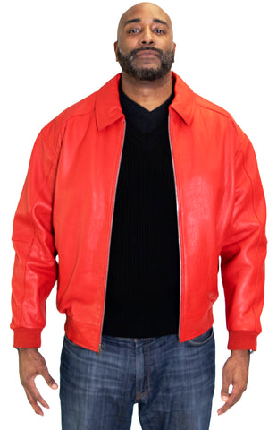 Leather Bomber Jacket Style #2066