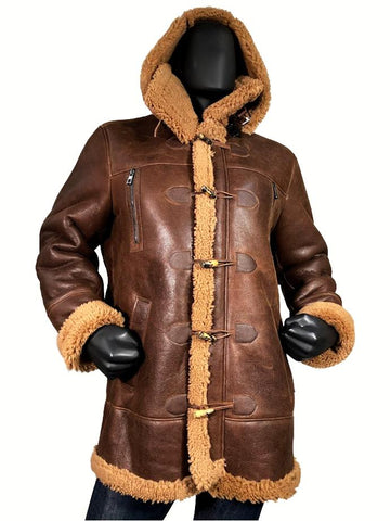 Long Shearling Aviator Sheepskin Leather Coat B-7 Style #807