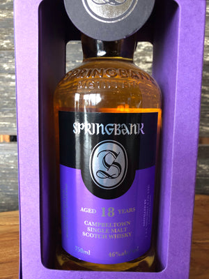 Springbank 18 Yr Single Malt Scotch