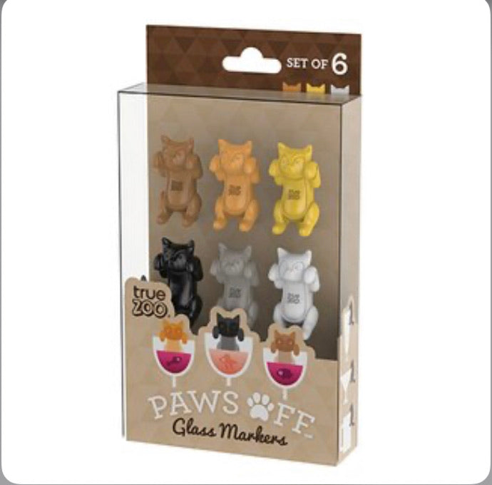 Paws off glass markers cats
