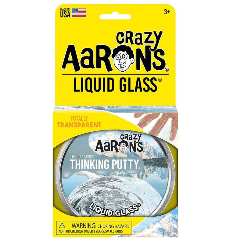 Crazy Aarons Thinking Putty, Liquid Glass Crystal Clear