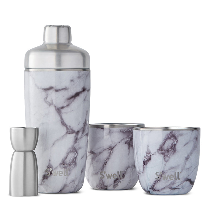 White Marble Cocktail Kit by S'well