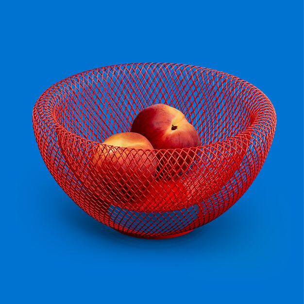 Moma, Mesh Bowl, Red