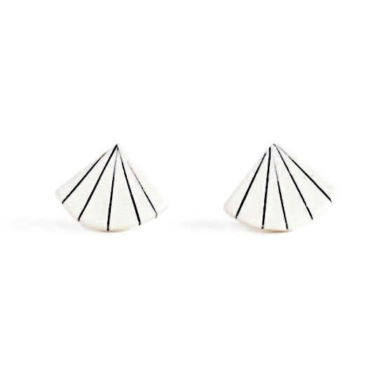 Jenna Vanden Brink, Pinstripe Fan Earrings