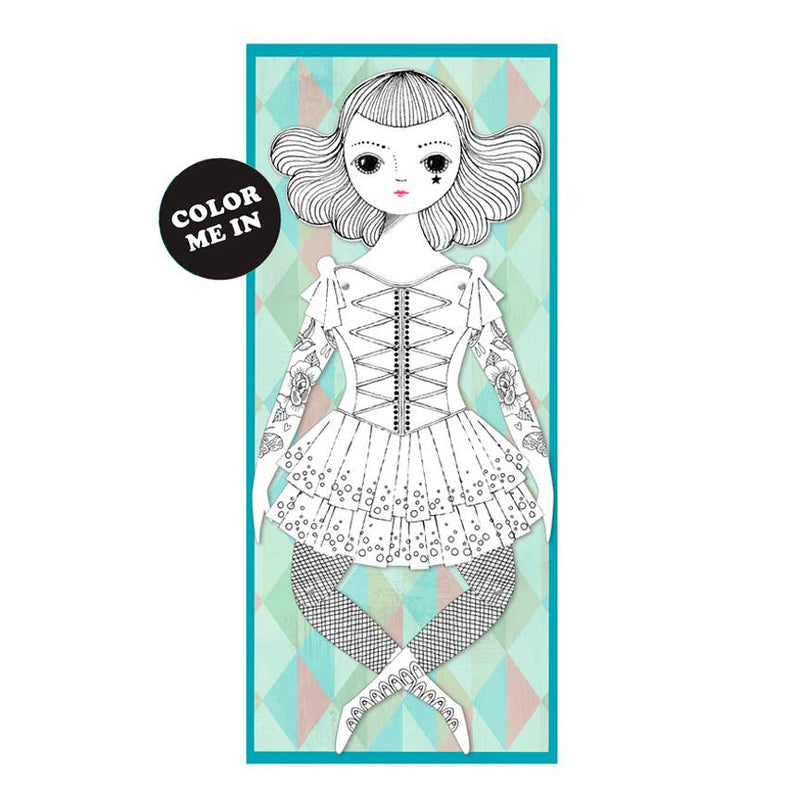 Of Unusual Kind, Paper Doll: Amelia, to color-in