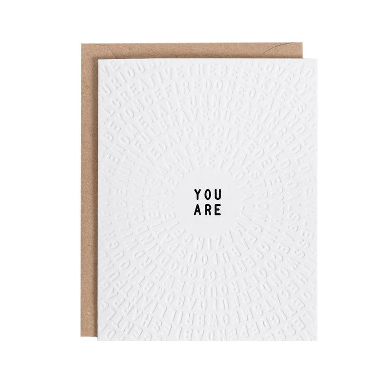 You Are Color-in Greeting Card (Set of 3)