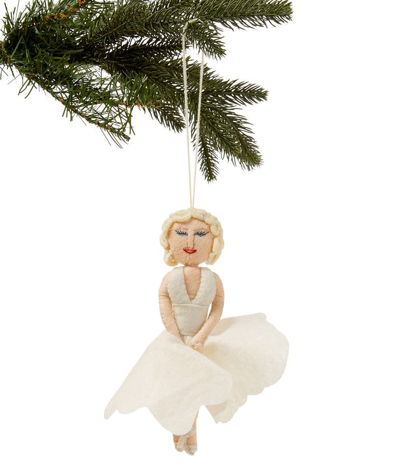 Marilyn Monroe Felt Ornament