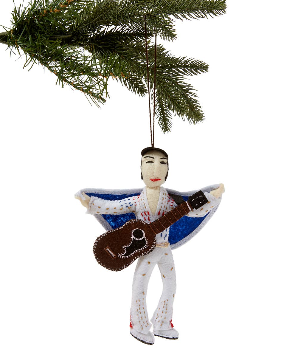 Elvis Felt Ornament