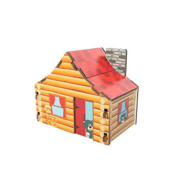 Fat Brain Toy Co., Cabin Blueprint Puzzle