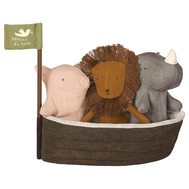 Maileg, Noah's Ark with 3 Mini Animals