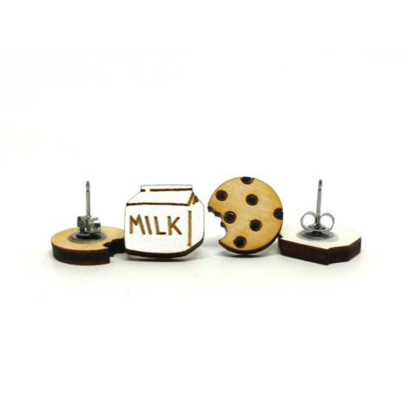 Unpossible Cuts, Milk and Cookies Earrings