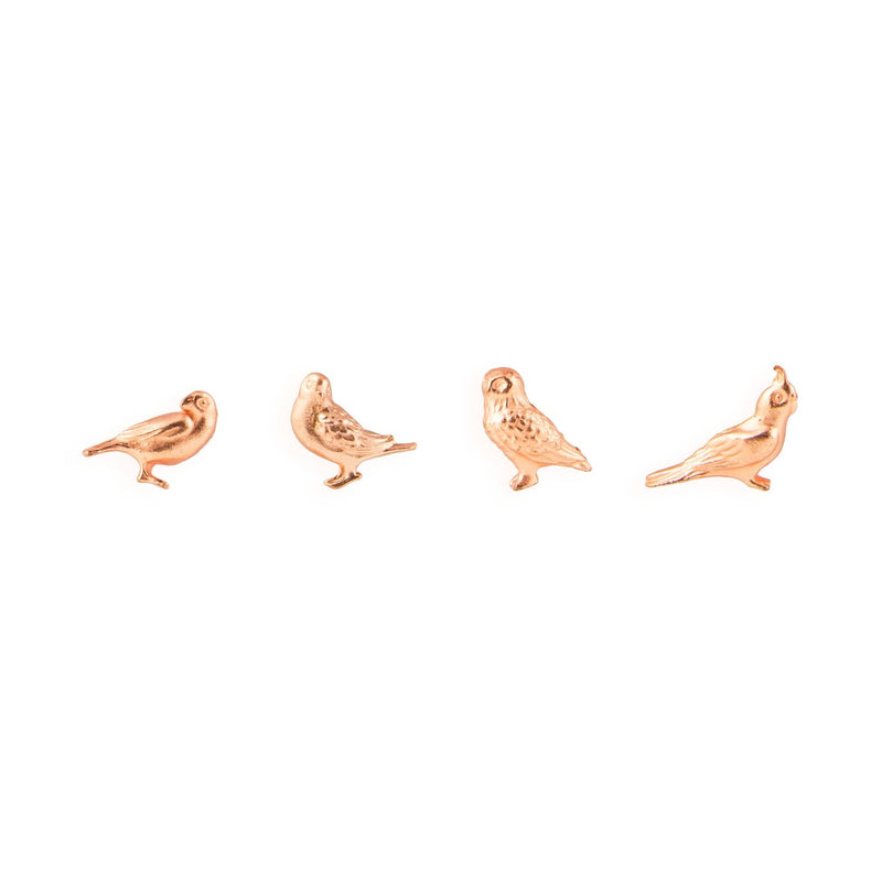 Cast Animal Magnets - Birds in Copper