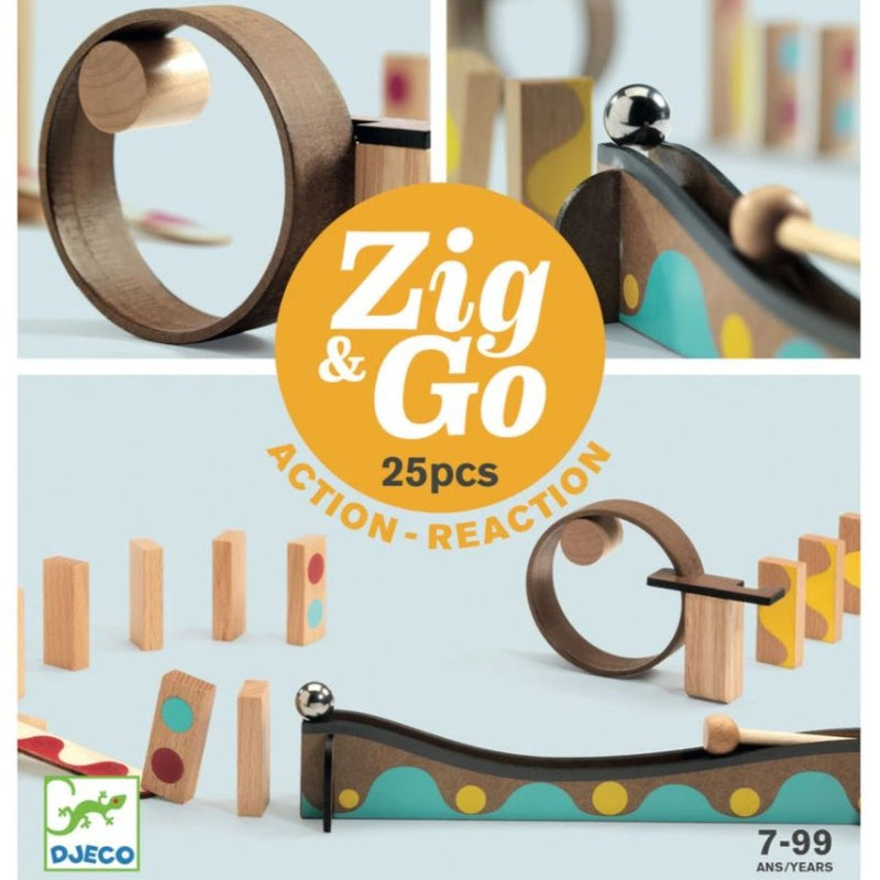 Djeco, Zig & Go, 25 Pieces