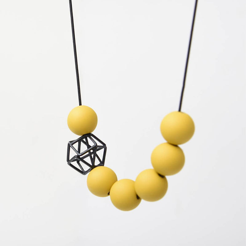 Pursuits Hex Hex Necklace, Black Dijon